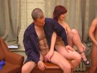 Russian threesome bbw mature
