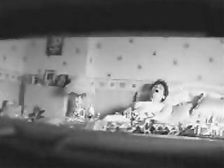 mom voyeured. hidden cam in bedroom caught her