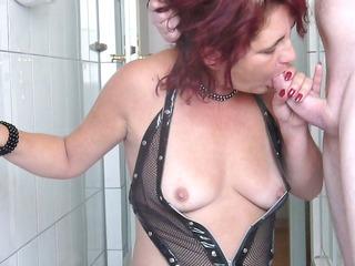 Milf Blowjob, Cumshot on tits