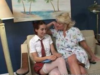 breasty mature lesbo blond