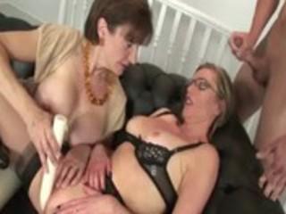 mature nylons whore receives a jizz flow