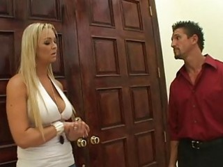 marvelous breasty blonde wife get to fuck for
