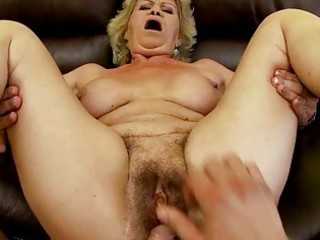 granny does oral sex and receives drilled