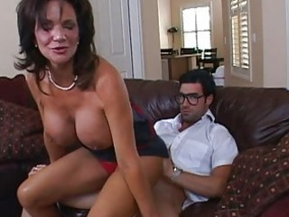 busty dark brown milf getting her pussy pounded