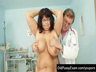 aged daniela has her huge boobs checked at gyno