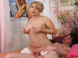 granny seduces her youthful friend 14
