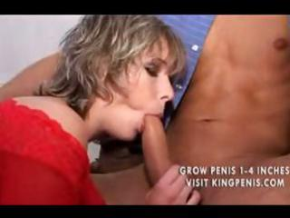 Busty milf babes in group sex are blowing and