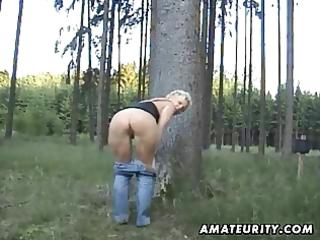 older dilettante wife sucks and fucks outdoor