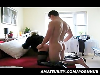 blonde amateur girlfriend sucks and fucks with