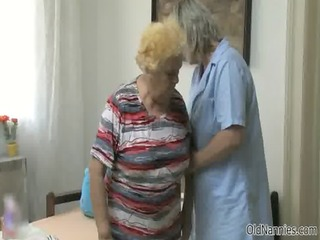 slutty old woman goes crazy getting her