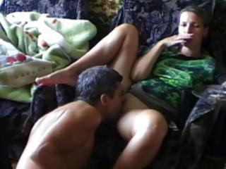 slutty non-professional wife gets pussy munching