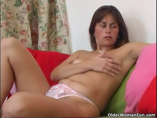 hirsute and aged mom masturbates with fingers and