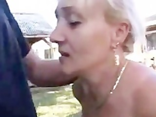 German Mature With Great Oral Skills Gets Thick
