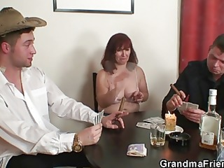 disrobe poker leads to hard threesome