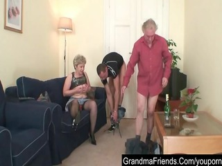 aged fucking with paramour and husband