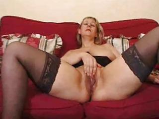 Mature blonde super big saggy tits