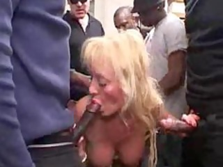 french breasty blond older gangbang