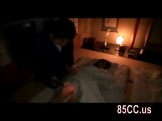 wife drilled by husbands friend on the bed 114