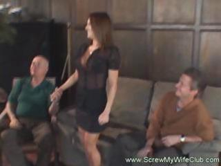 hot brunette wife gets hammered by a large ramrod