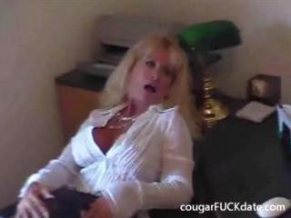 hot granny cougar in stockings bonks a juvenile