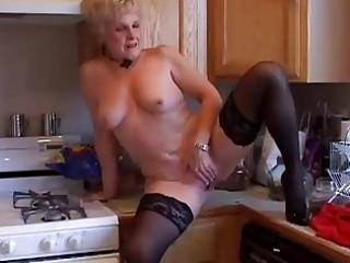 very hot grandma has a soaking wet vagina