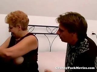 a corpulent granny has sex