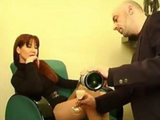 perfect red-haired mother i in hot suit acquires
