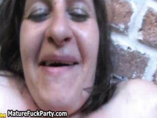 horny aged group sex party