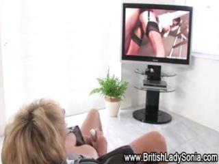 older european lady sonia acquires off watching