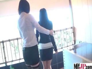 horny japanese milf get banged hardcore on camera