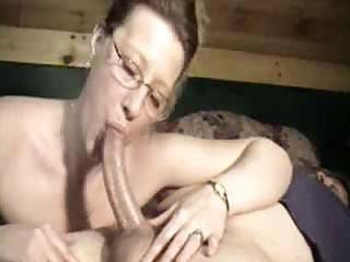 country milf downs a lengthy cock to her mouth
