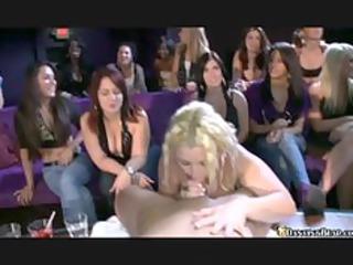 blond milf sucks off stripper in front of her