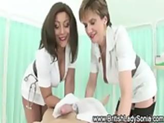 aged busty nurses lather