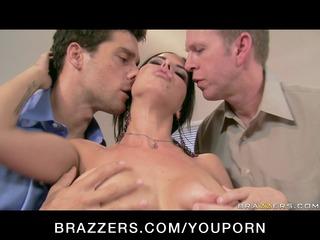 large tit brunette whore boss anal & double