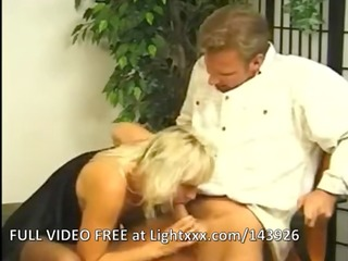 golden-haired milf in nylons screwed