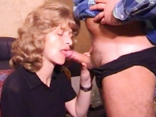 aged non-professional wife homemade blowjob with