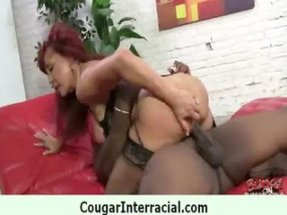 hawt cougar receives drilled by young dark guy 49
