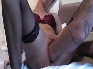 fisting my wifes monster swollen pussy