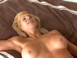 breasty older cougar seduces a younger chap