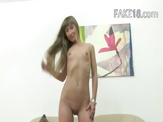 ukraine sweetheart licking and gagging on sofa