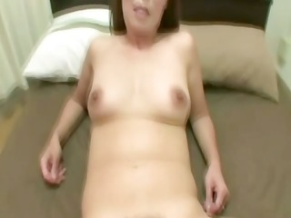 hairy asian cougar is sucking a ramrod
