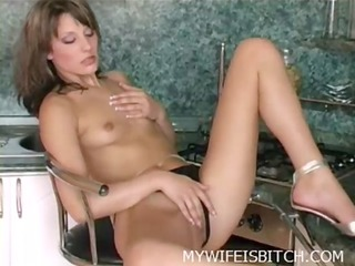 fingering in the kitchen