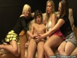 cfnm older ladies jerking a young cock
