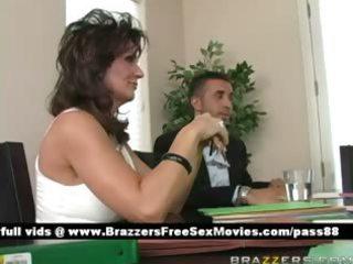 mature busty brunette floozy at a meeting
