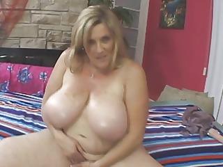 big beautiful woman older blond masturbating her