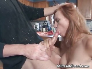 hot oral-stimulation session with busty dark