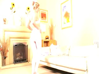hot mommy in white hose tease