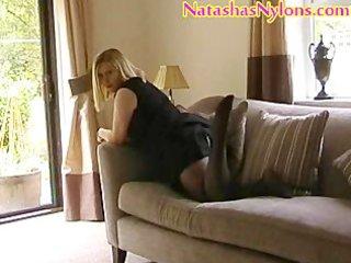 Bbw english milf mummy wife in pantyhose with