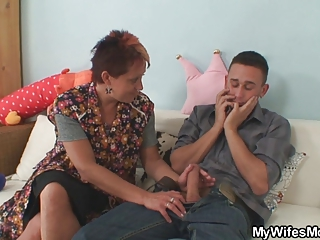 cock hungry mamma jumps on her son in law