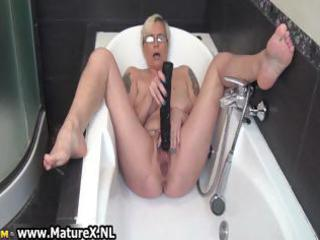 horny aged lady fucking her own taut part0